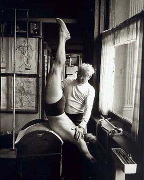 Joseph Pilates teaching